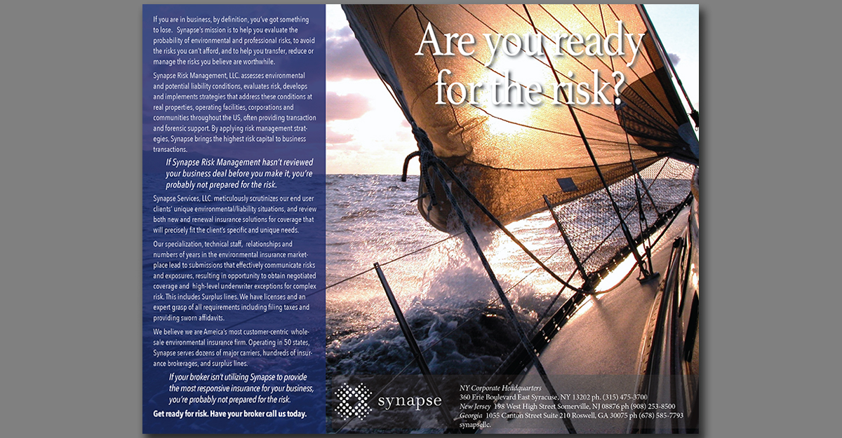 If you are in business, you need to be ready for risk. Synapse will help.