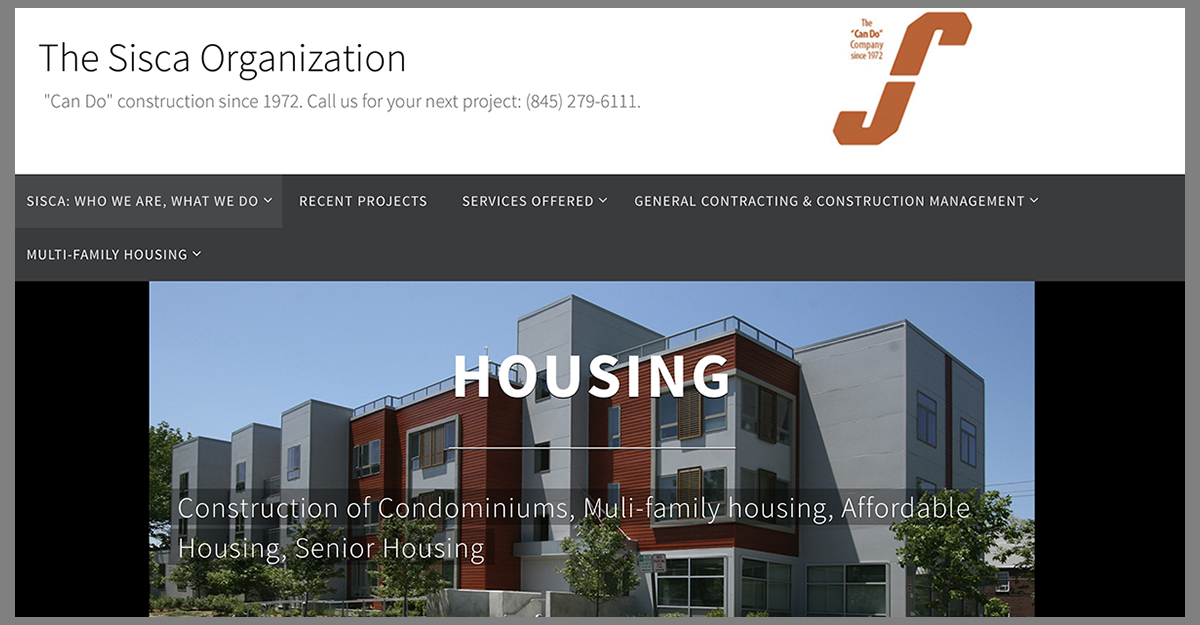 Web site created by Dana Johnston for The Sisca Organization